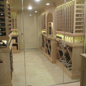 chilled wine room with glass doorsweb