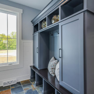 farmhouse lockers with center stained benchweb
