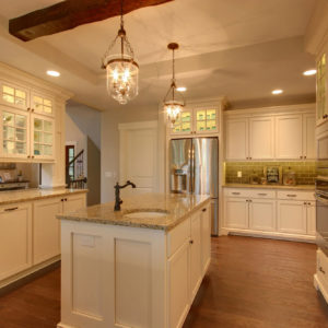 traditional kitchen painted with glaze display cabinetweb