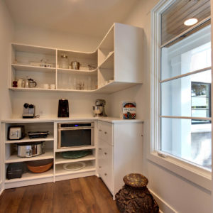 white melamine pantry with slab drawersweb