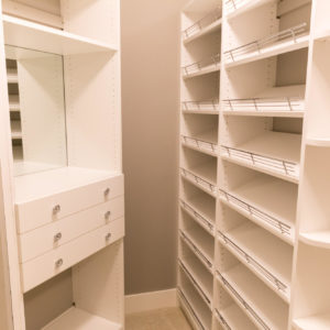 white melamine with jewelry drawers and shoe shelvesweb