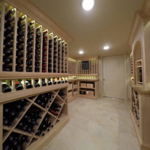 wine storage with iluminated display rowweb